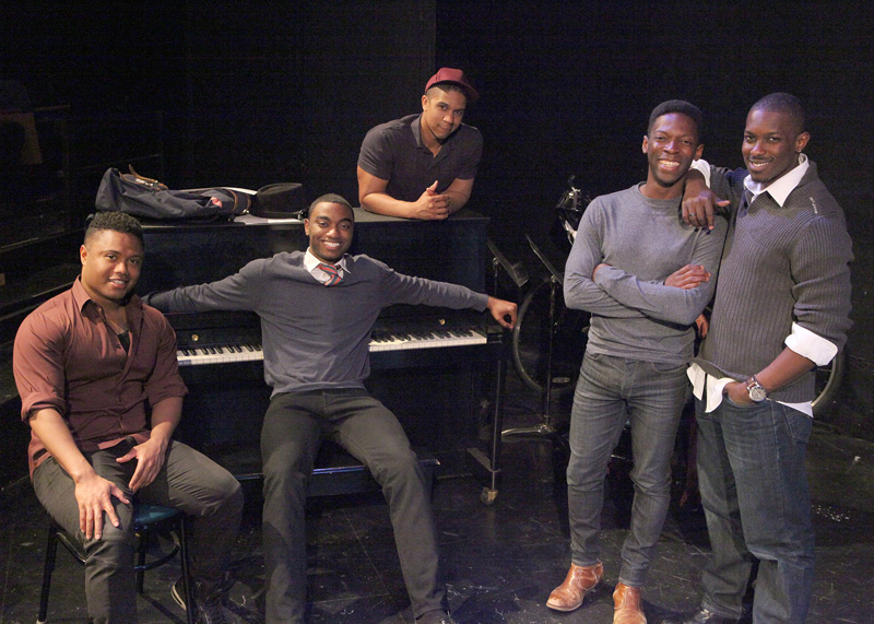 Forest Van Dyke, Jelani Alladin, Jaysen Wright, Rotimi Agbabiaka and Dimitri Woods star in the Bay Area premiere of Tarell Alvin McCraney's Choir Boy at Marin Theatre Company. (Photo: Ed Smith)