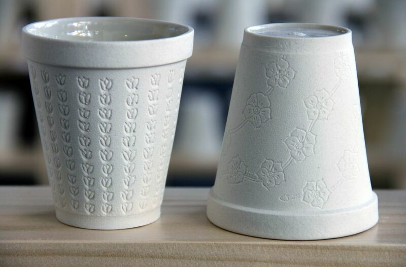 Ceramic cups for <em>Tea</em>. (Photo by Aaron Hughes)