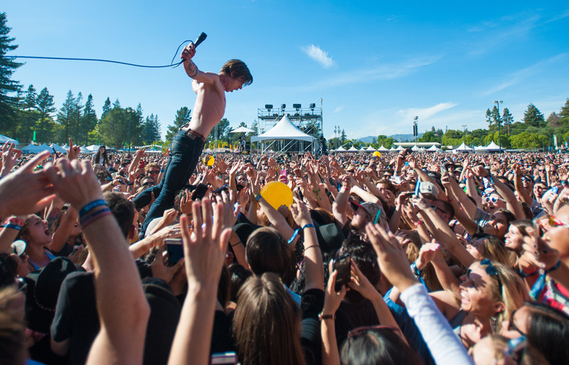 A BottleRock crowd in 2015, while Cage the Elephant performs.