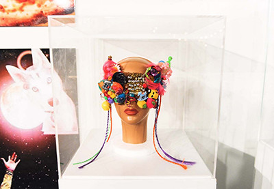 Miley Cyrus artwork on view at Miami Basel, 2014. (Photo by V Magazine)
