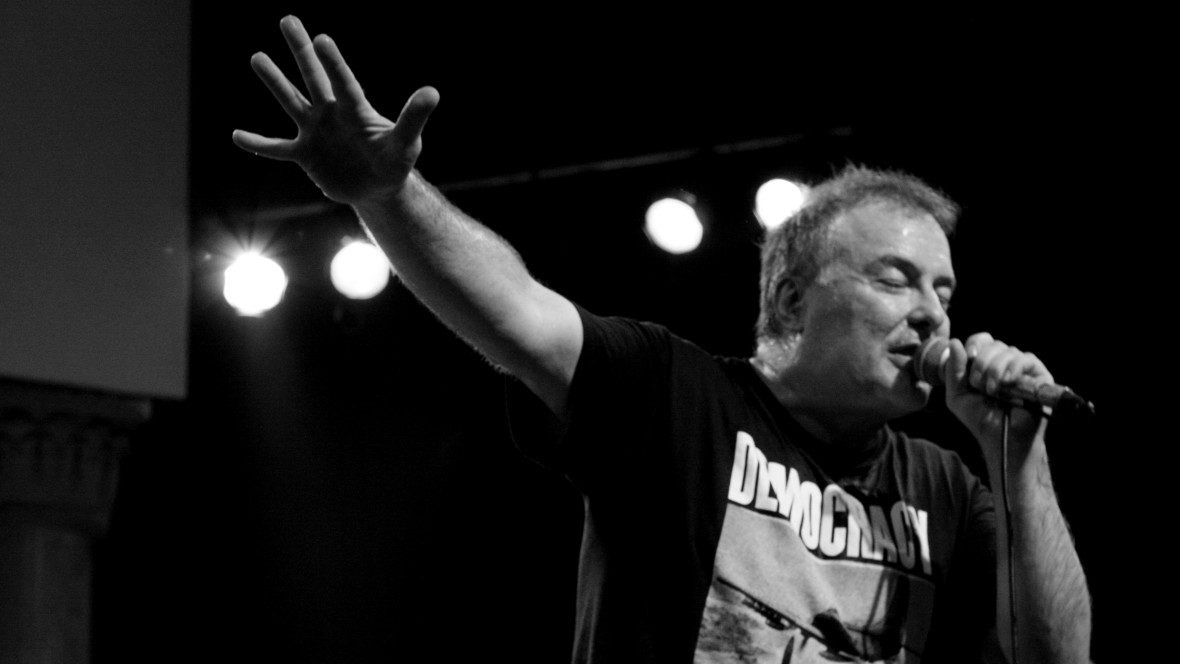 Jello Biafra, former Dead Kennedys frontman, performs at the 2017 Hardly Strictly Bluegrass Festival.