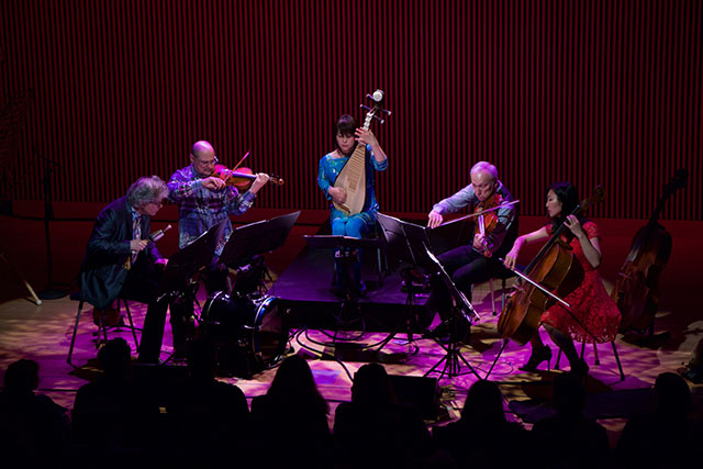The Kronos Quartet perform with Wu Man at the Terry Riley Festival in San Francisco.