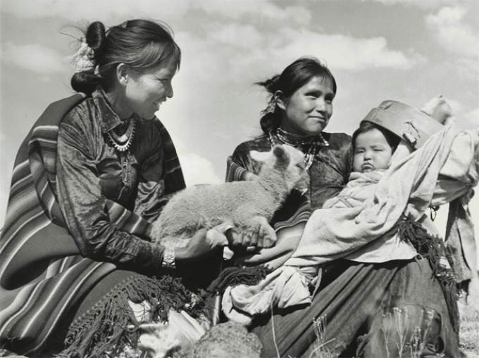 Hansel Mieth, 'Navajo Herders in New Mexico,' 1941. (Courtesy of the Sonoma County Museum)