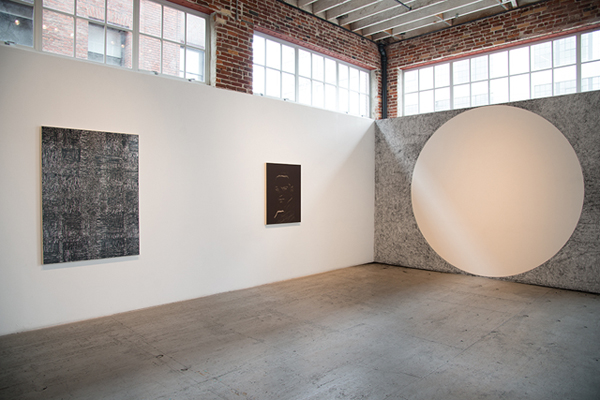 Installation view with Emily Prince, <i>The Dust</i>, 2015. (Courtesy of Gallery 16)