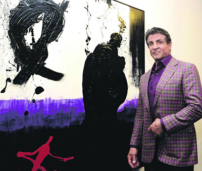 Stallone at his museum opening in Nice, 2015. (Courtesy of the artist)