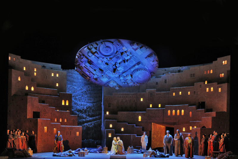 """Act IV  Love Scene from Act IV of Berlioz's """"Les Troyens."""" ©Cory Weaver/San Francisco Opera"""
