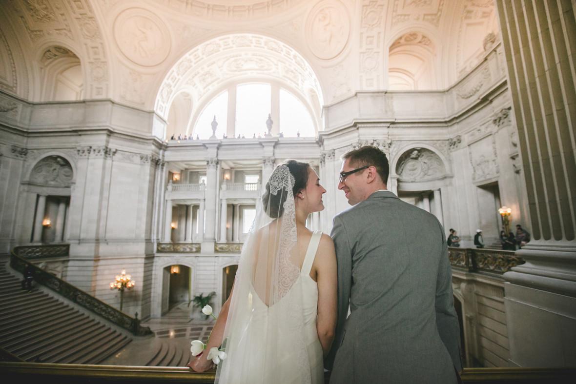 Newlyweds at San Francisco City Hall. (Photo: Michelle Felieacan)