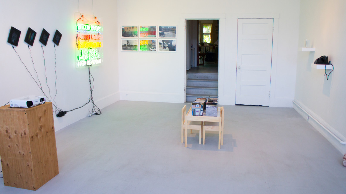 Installation view of The Dissidents, the Displaced, and the Outliers at Random Parts, Oakland. (Courtesy of Random Parts)