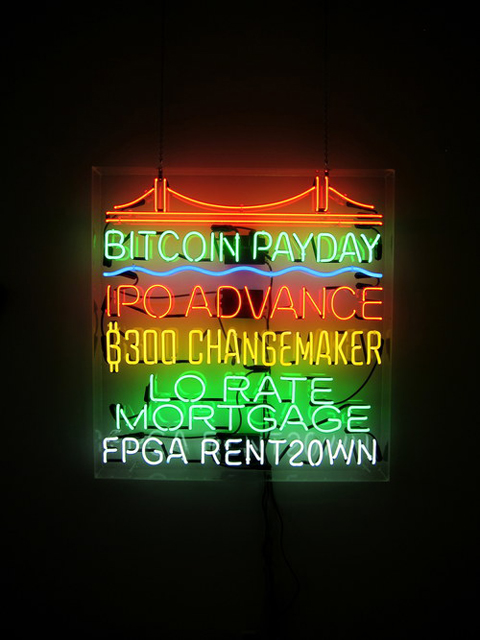 Tom Loughlin, <i>Bitcoin Payday</i>. (Courtesy of Random Parts)