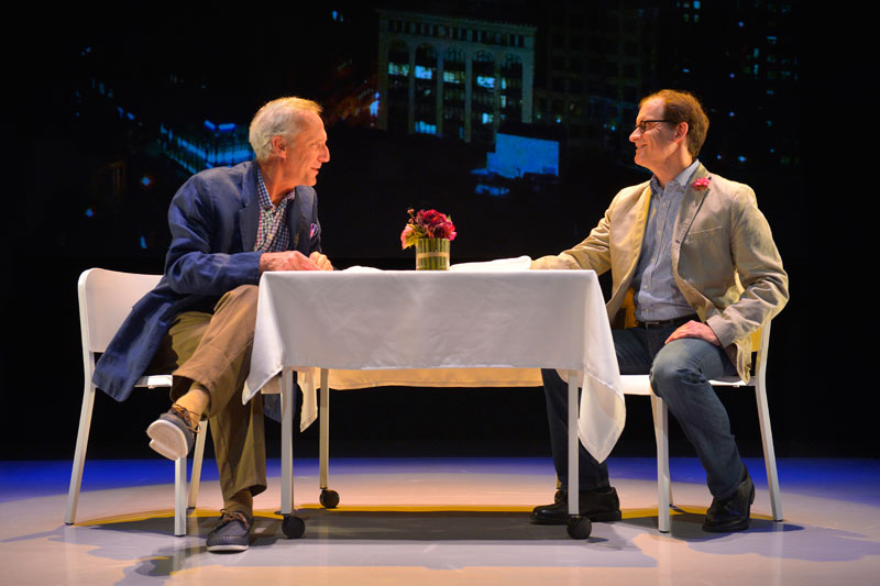 Dan Hiatt and Anthony Fusco reminisce about old times in Caryl Churchill's Love and Information. (Photo: Kevin Berne)
