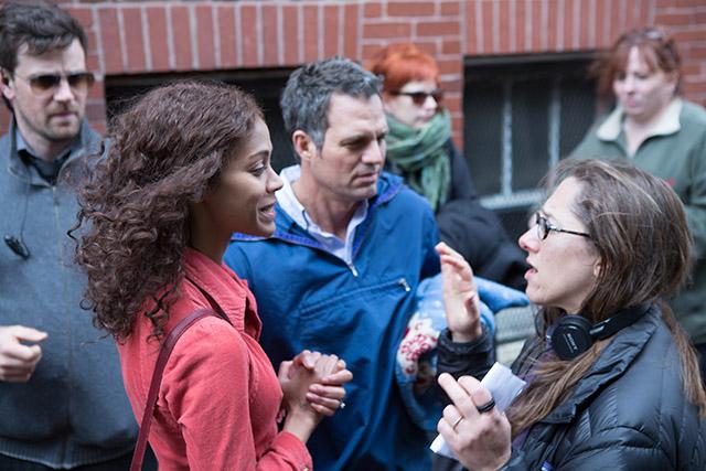 Zoe Saldana, Mark Ruffalo and Director Maya Forbes. (Photo by Seacia Pavao, Courtesy of Sony Pictures Classics)