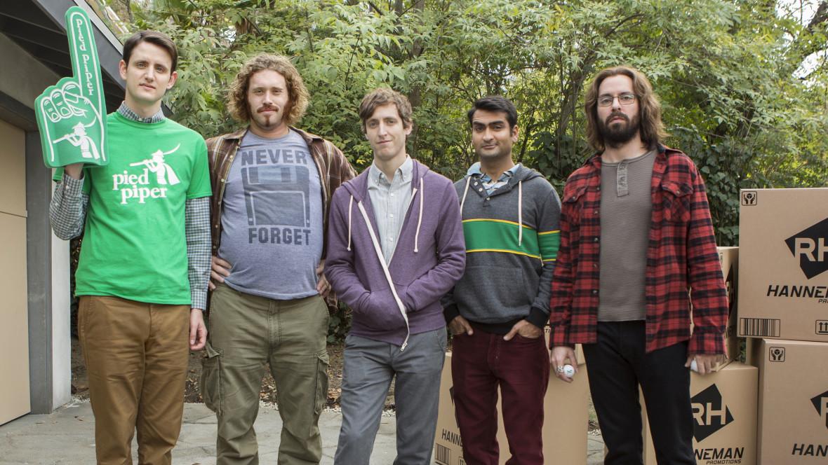 Zach Woods, T.J. Miller, Thomas Middleditch, Kumail Nanjiani, and Martin Starr.