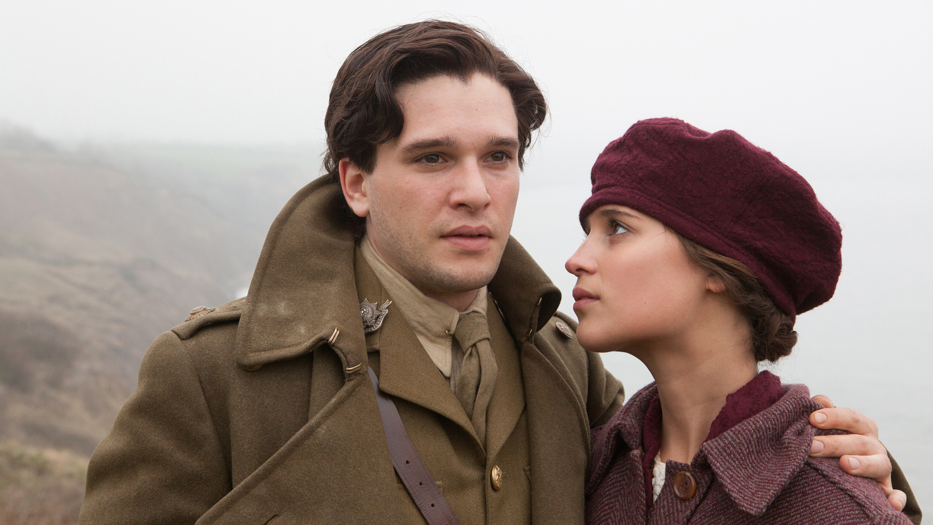 Kit Harington and Alicia Vikander in Testament Of Youth. (Courtesy of Laurie Sparham/Sony Picture Classics)