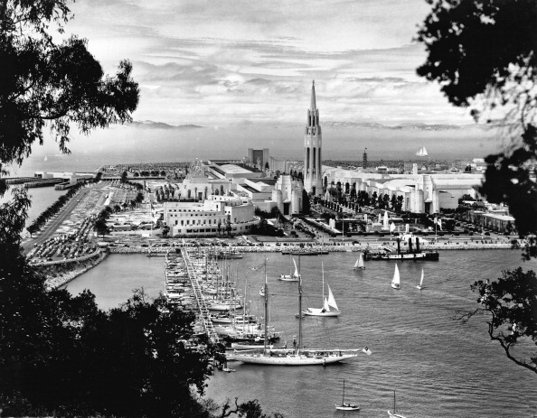 View from the Bay Bridge of the 1939 Golden Gate International Exposition, 1939. (Photo: Underwood Archives/Getty Images)