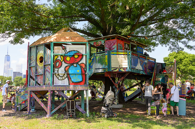 Benjamin Jones, 'Treehouse,' 2014 (Photo: Alex Taferner/figmentNYC)