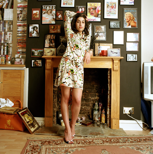 Entrance image to 'Amy Winehouse: A Family Portrait,' on view July 23–Nov. 1, 2015, at the Contemporary Jewish Museum, San Francisco. (Photo: Mark Okoh/Camera Press London)
