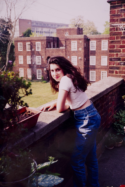 A young Amy outside her Grandma's flat in Southgate. (Photo: The Winehouse family/ Contemporary Jewish Museum, San Francisco)