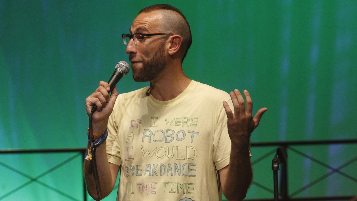Comedian Ari Shaffir performs at the 2015 Bonnaroo Music and Arts Festival in June