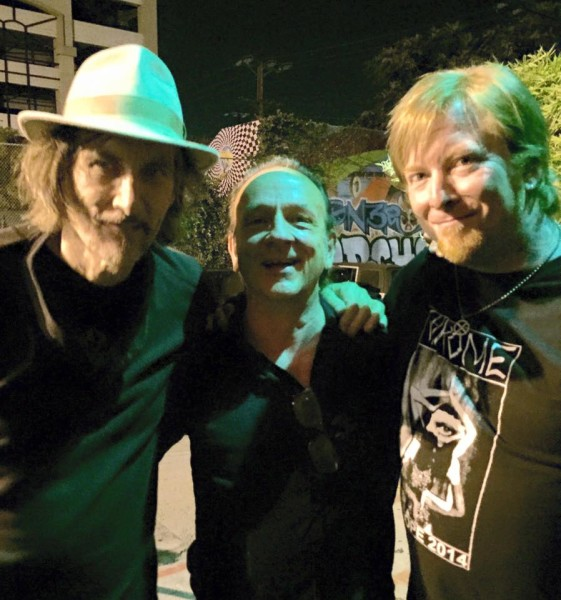 Helios Creed, David Yow (singer for Jesus Lizard) and Chrome  drummer Aleph Kali (Courtesy of Helios Creed)