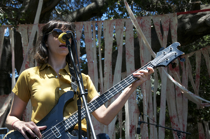Colleen Burke, bassist of Danny & the Darleans, who also include Danny Kroha, one of the founding members of the Gories.