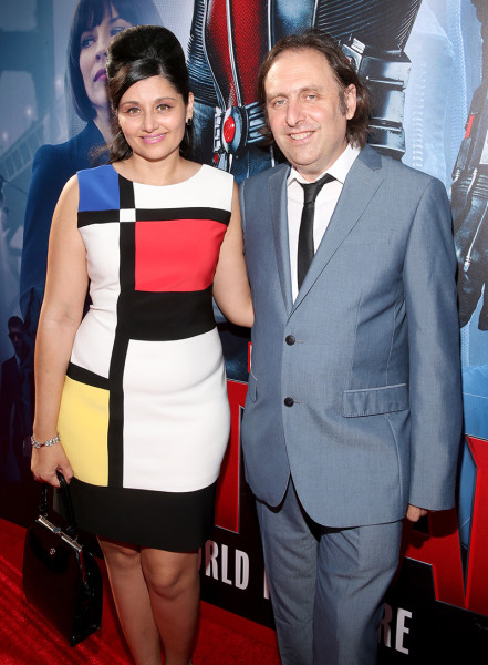"""Gregg Turkington and guest attend the world premiere of Marvel's """"Ant-Man,"""" in which Turkington had a role."""
