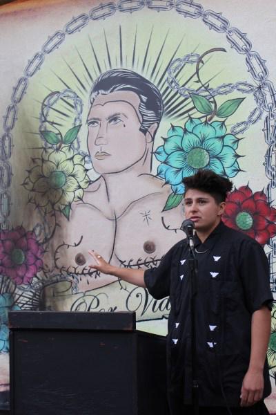 Luciano Sagastume, a transgender community organizer.