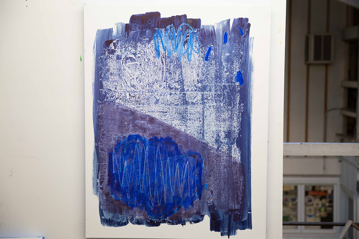 'Blue Blush,' 2015. (Photo: Jeremy Raff/KQED)