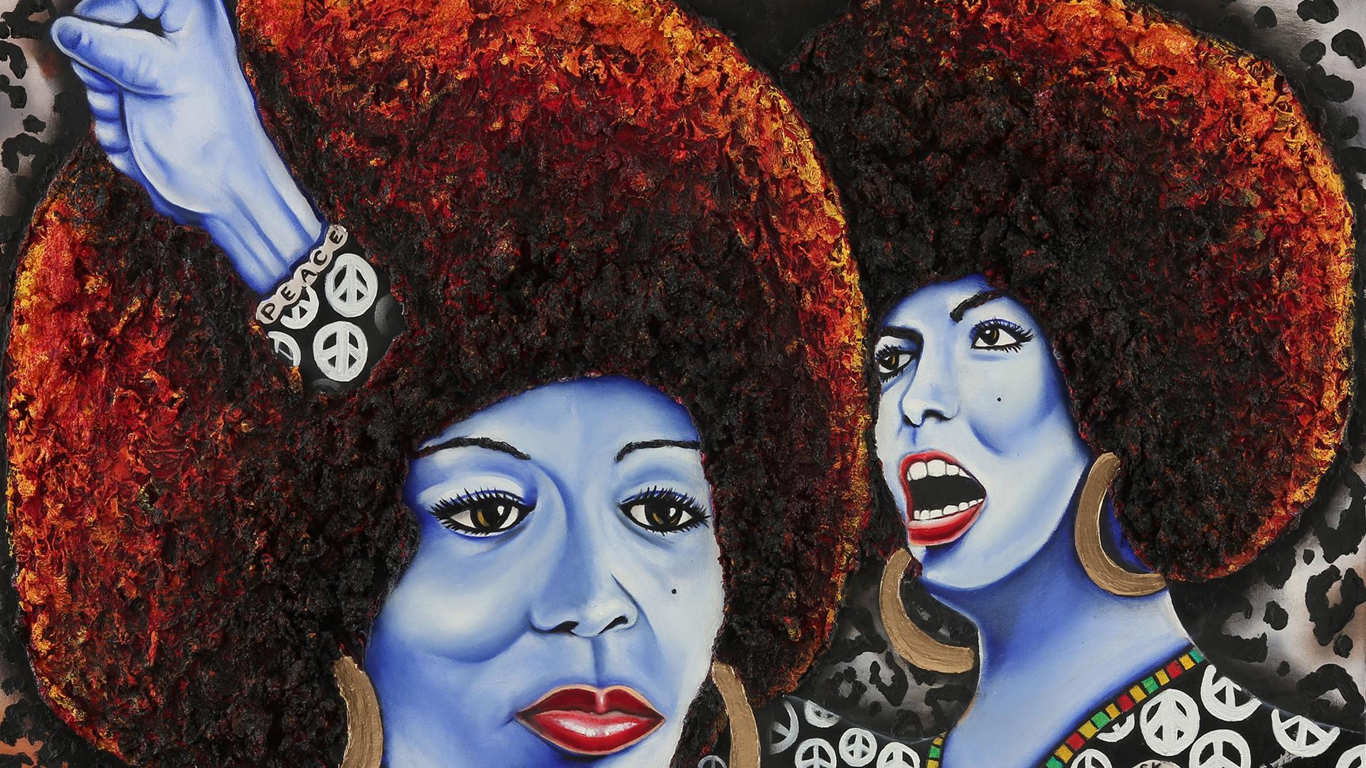 Nannette Y. Harris-Jones, 'The Power of Angela Davis,' 2012 (Photo: SOMArts)