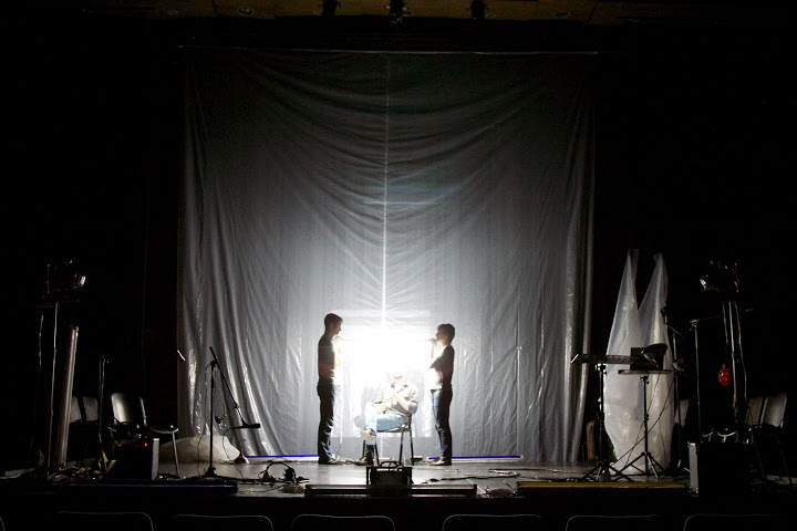 (L to R) : Ryan Conarro, Denis Butkus, Adam Cochran. Photo courtesy of Theater Mitu