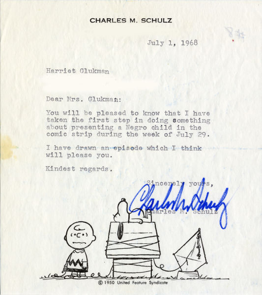 Schulz writes Glickman to tell her he has taken her advice.