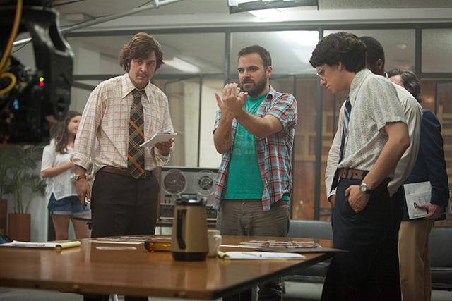 Director Kyle Alvarez at center in 'The Stanford Prison Experiment.' (Photo: Steve Dietl/IFC Films)