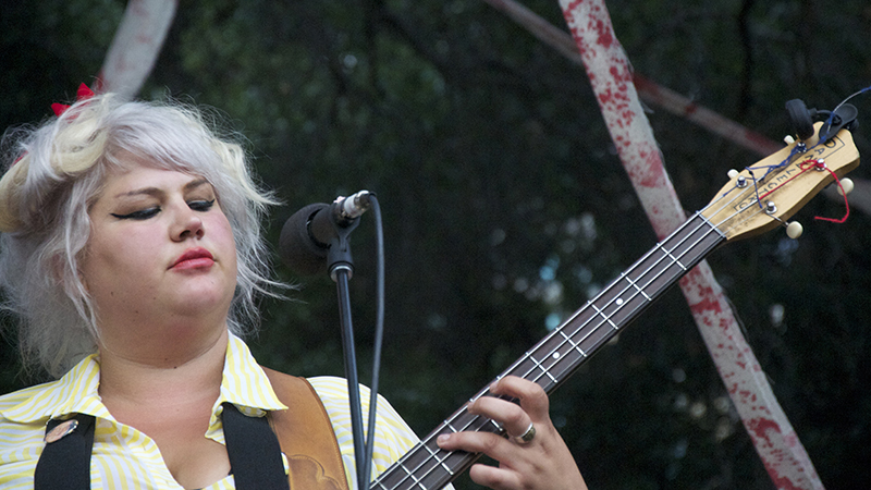 Shannon Shaw of Oakland-based indie garage punk trio Shannon and the Clams.