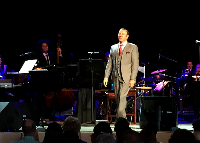 Kevin Spacey sings at the Green Music Center, July 18, 2015. (Photo: Gabe Meline/KQED)