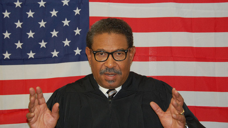 Steven Anthony Jones stars as Supreme Court Justice Thurgood Marshall in Lorraine Hansberry Theatre's one-man show Thurgood. (Photo: Gina Snow)
