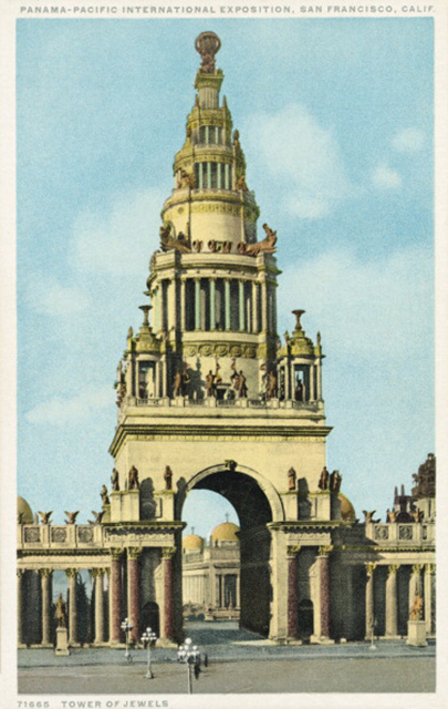 Tower of Jewels postcard. (Photo: LCDM Universal History Archive/Getty Images)