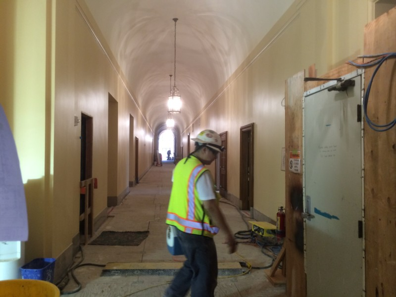 Renovations underway at the Veterans Building