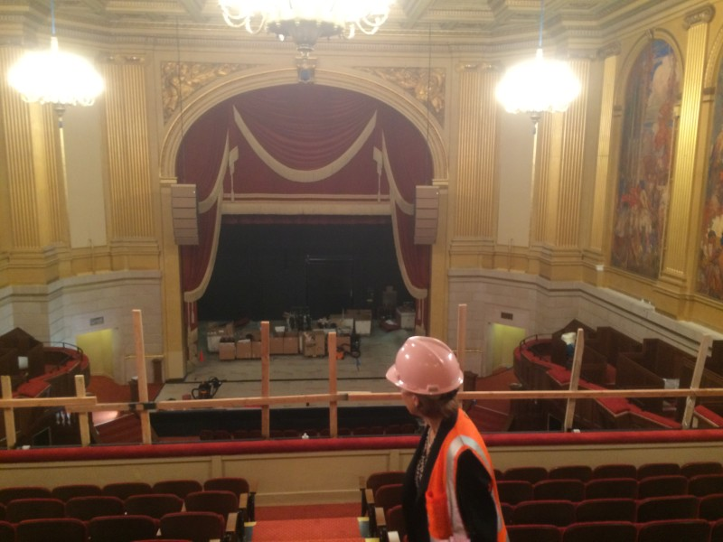 A view from the balcony in the Herbst Theatre