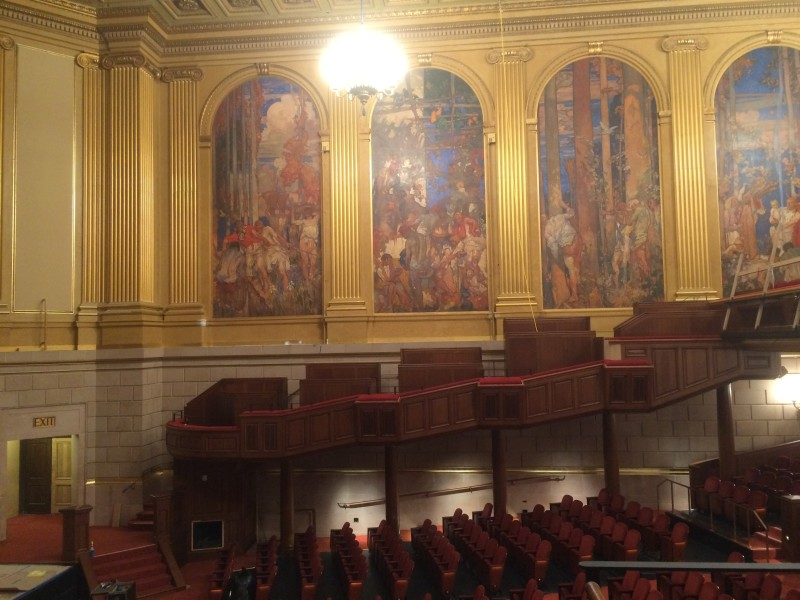 A view from the new boxes in the Herbst Theatre