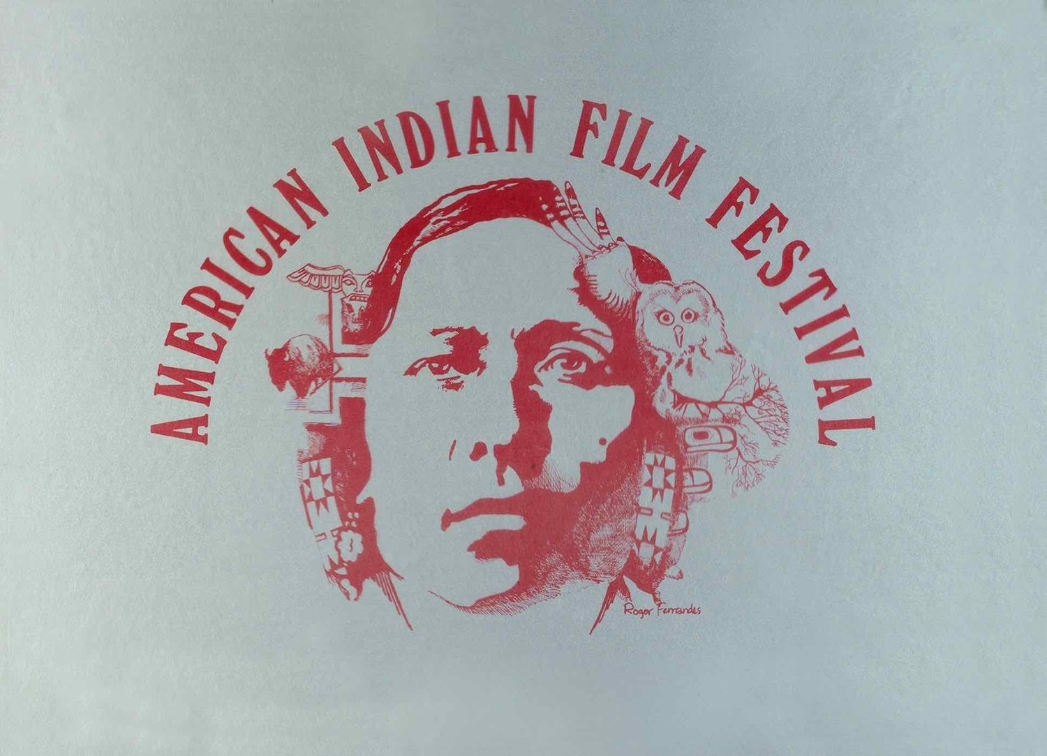 American Indian Film Festival poster from 1975 (Roger Fernandes)