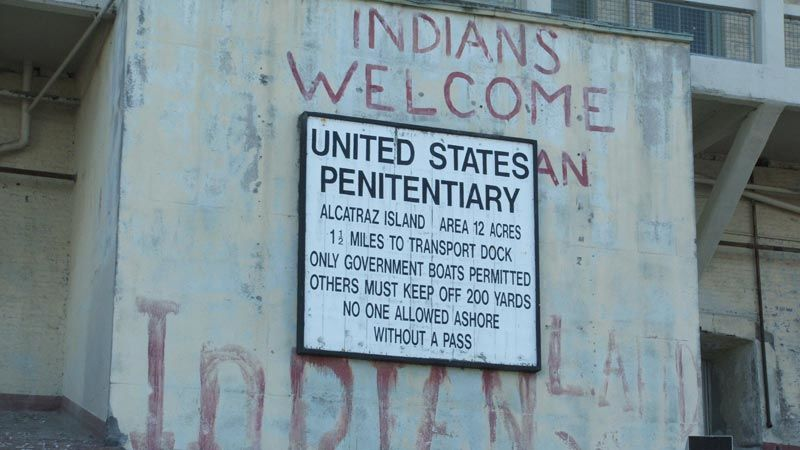 Remnants of the occupation of Alcatraz