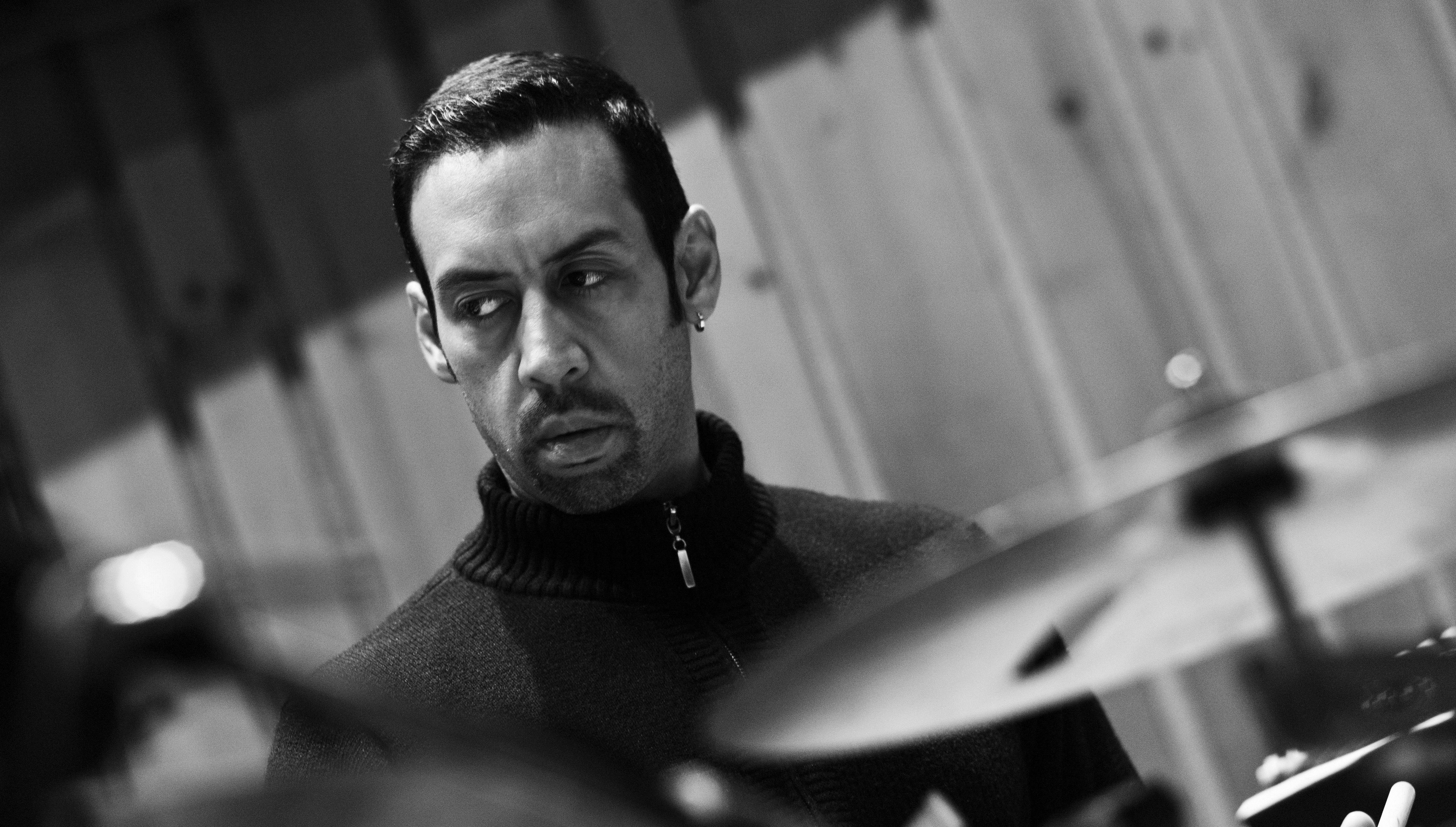 Drummer Antonio Sanchez plays during SFJAZZ's film series