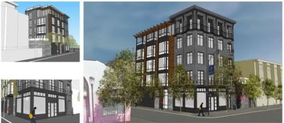 An artist's rendering of the proposed condos that would replace the Elbo Room at 647 Valencia Street.