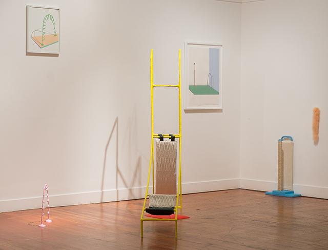 Installation view of Stephanie Rohlfs' work in 'Powers of Ten' at Bass & Reiner, Feb. 2015. (Photo: Bass & Reiner)