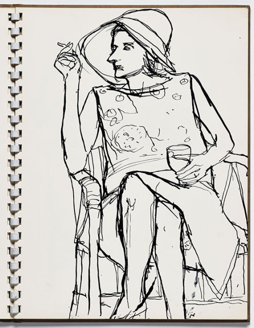 Richard Diebenkorn (U.S.A., 1922–1993), Untitled from Sketchbook #13, page 13, c. 1965–66. Pen and ink on paper. Gift of Phyllis Diebenkorn, 2014.13.15. © The Richard Diebenkorn Foundation