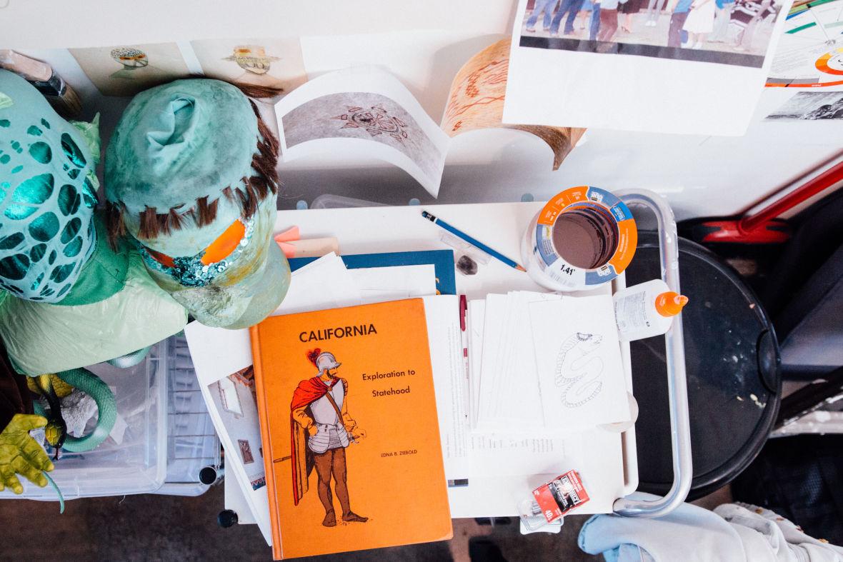 Inside Katie Dorame's studio. (Photo: Jeremy Raff/KQED)