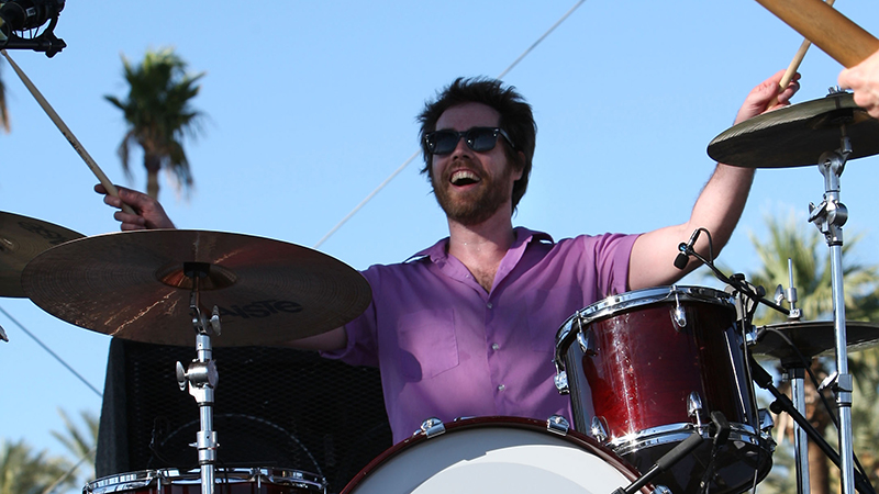 Jon Wurster performs during day two of the Coachella Valley Music & Arts Festival 2009