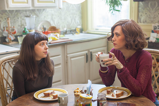 Kristen Wiig as Charlotte Goetze and Bel Powley as Minnie Goetze. (Photo: Sam Emerson/Sony Pictures Classics)