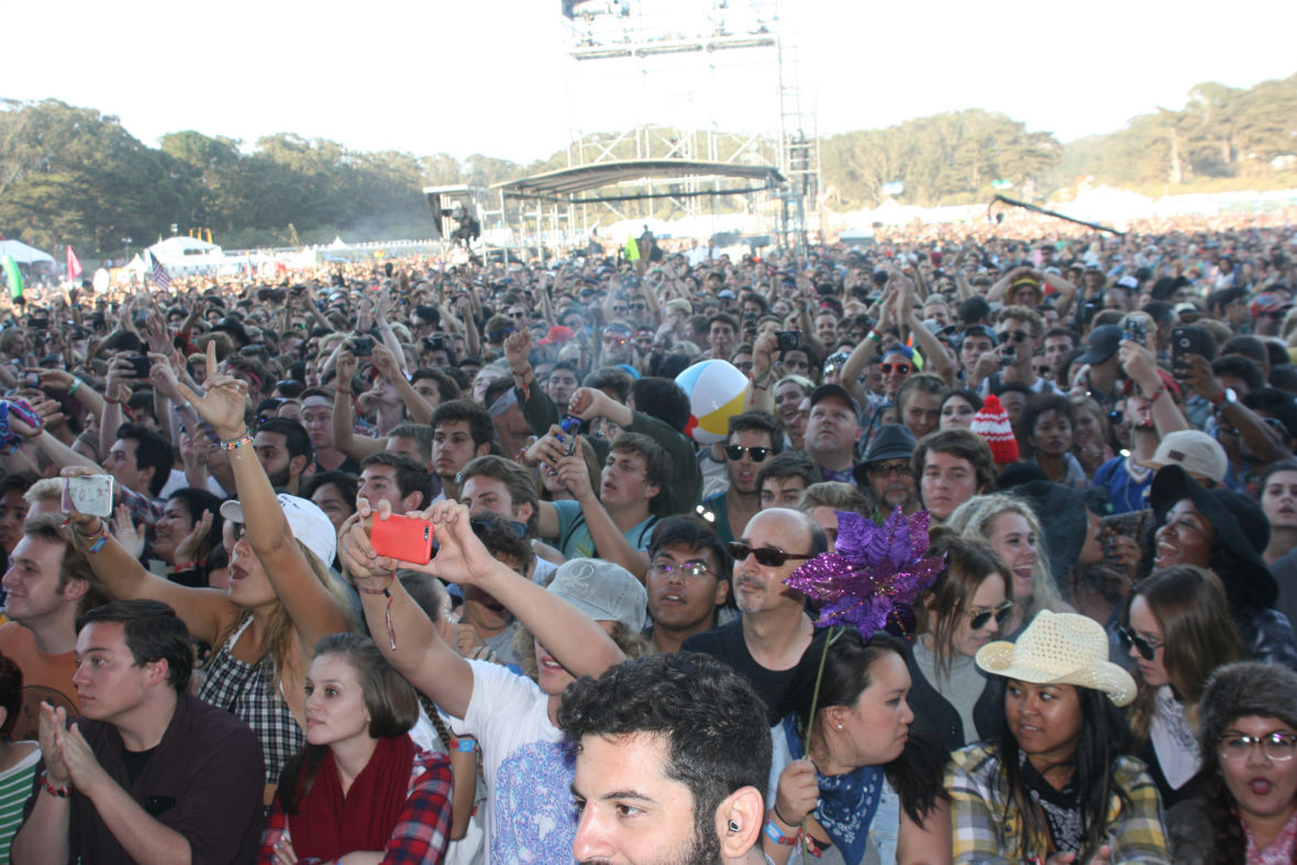 The crowd at Outside Lands, Aug. 8, 2015. (Photo: Gabe Meline/KQED)