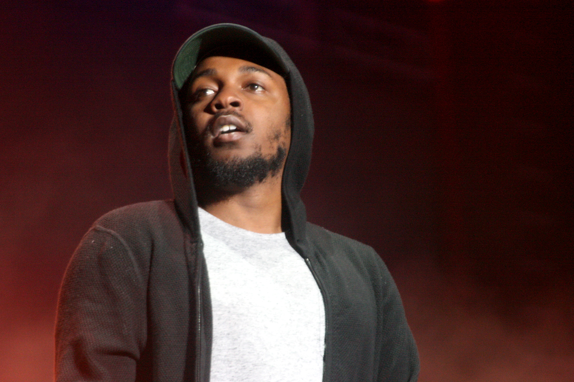 Kendrick Lamar performs at Outside Lands, Aug. 8, 2015. (Photo: Gabe Meline/KQED)