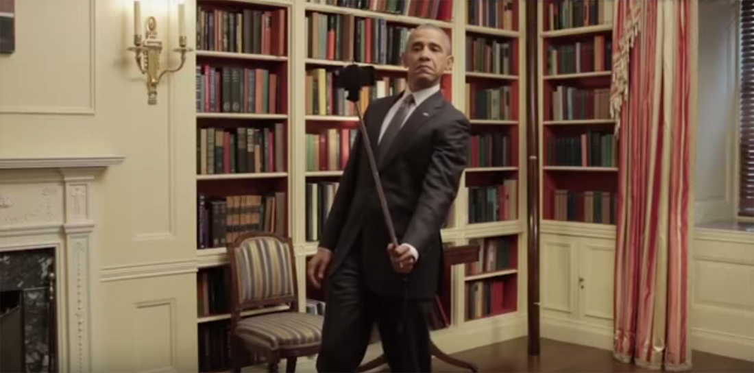 Screen capture from a Buzzfeed video made in partnership with President Obama to spread the word about an Affordable Healthcare Act deadline, 2015. (Photo: Buzzfeed)